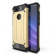 Armor Guard Plastic + TPU Hybrid Shell for Xiaomi Mi 8 Lite / Mi 8 Youth (Mi 8X) - Gold