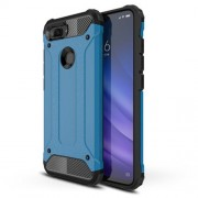Armor Guard Plastic + TPU Hybrid Mobile Case for Xiaomi Mi 8 Lite / Mi 8 Youth (Mi 8X) - Baby Blue