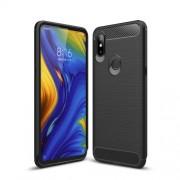 Carbon Fibre Brushed TPU Case for Xiaomi Mi Mix 3 - Black