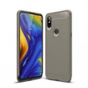 Carbon Fibre Brushed TPU Back Case for Xiaomi Mi Mix 3 - Grey