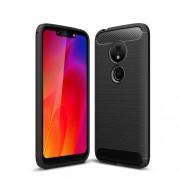 Θήκη Σιλικόνης TPU Carbon Fiber Brushed για Motorola Moto G7 Play - Μαύρο