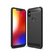 Θήκη Σιλικόνης TPU Carbon Fiber Brushed για Motorola One / P30 Play - Μαύρο