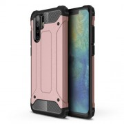 Armor Guard Plastic + TPU Combo Cover Case for Huawei P30 Pro - Rose Gold