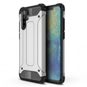 Armor Guard Plastic + TPU Hybrid Case Shell Cover for Huawei P30 Pro - Silver