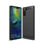 Carbon Fibre Brushed TPU Case for Huawei P30 Pro - Black