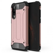 Armor Guard Plastic + TPU Combo Cover Case for Huawei P30 - Rose Gold