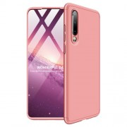 GKK 360 μοιρών Σκληρή Θήκη Ματ με Βελούδινη Υφή Πρόσοψης και Πλάτης για Huawei P30 - Ροζέ Χρυσαφί