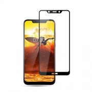 MOCOLO Silk Print Arc Edge Full Coverage Tempered Glass Screen Protector for Nokia 8.1 / X7 - Black