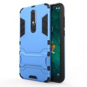 Υβριδική Θήκη Συνδυασμού Σιλικόνης TPU και Πλαστικού με Βάση Στήριξης για Nokia 5.1 Plus / X5 - Μπλε