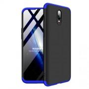 GKK 360 μοιρών Σκληρή Θήκη Ματ με Βελούδινη Υφή Πρόσοψης και Πλάτης για OnePlus 6T - Μαύρο/Μπλε