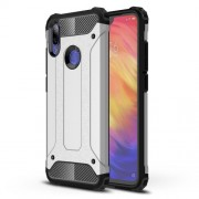 Armor Guard Plastic + TPU Hybrid Shell Case for Xiaomi Redmi Note 7 / Note 7 Pro (India) - Silver