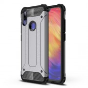 Armor Guard Plastic + TPU Hybrid Protection Case for Xiaomi Redmi Note 7 / Note 7 Pro (India) - Grey