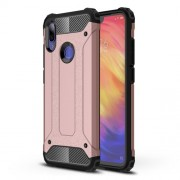 Armor Guard Plastic + TPU Hybrid Mobile Phone Case for Xiaomi Redmi Note 7 / Note 7 Pro (India) - Rose Gold