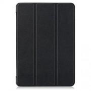 Δερμάτινη Θήκη Βιβλίο Tri-Fold με Βάση Στήριξης για Lenovo Tab E10 TB-X104F - Μαύρο