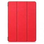 Δερμάτινη Θήκη Βιβλίο Tri-Fold με Βάση Στήριξης για Lenovo Tab E10 TB-X104F - Κόκκινο