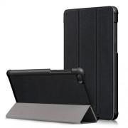 Δερμάτινη Θήκη Βιβλίο Tri-Fold με Βάση Στήριξης για Lenovo Tab E7 TB-7104F - Μαύρο
