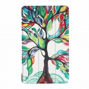 For Lenovo Tab 4 8 Plus Tri-fold Stand PU Leather Case Accessory - Flourishing Tree