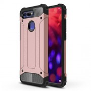 Armor Guard Plastic + TPU Hybrid Case Accessory for Huawei Honor View 20 / Honor V20 - Rose Gold