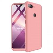 GKK 360 μοιρών Σκληρή Θήκη Ματ με Βελούδινη Υφή Πρόσοψης και Πλάτης για Xiaomi Mi 8 Lite / Mi 8 Youth (Mi 8X) - Ροζέ Χρυσαφί
