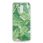 Back Case for Huawei Mate 20 Lite Pattern Printing IMD Flexible TPU Case - Green Leaves