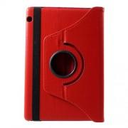 Περιστρεφόμενη Δερμάτινη Θήκη Βιβλίο με Βάση Στήριξης Huawei MediaPad T5 10 - Κόκκινο