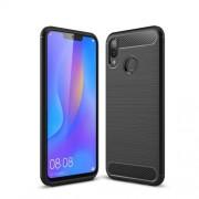 Carbon Fibre Brushed TPU Case for Huawei P Smart+ / nova 3i - Black