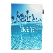 Δερμάτινη Θήκη Πορτοφόλι με Βάση Στήριξης για Huawei MediaPad M5 10 / M5 10 (Pro) - Θάλασσα και Φοίνικες