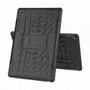 Υβριδική Θήκη Σιλικόνης σε Συνδυασμό με Πλαστικό και Βάση Στήριξης για Huawei MediaPad M5 10 / M5 10 (Pro) - Μαύρο