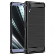 IMAK Vega Series Carbon Fiber Texture Brushed TPU Phone Case for Sony Xperia L3