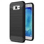 Carbon Fibre Brushed TPU Case for Samsung Galaxy J5 SM-J500F - Black