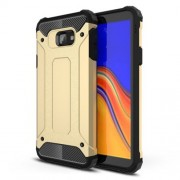 Armor Guard Plastic + TPU Cell Phone Case for Samsung Galaxy J4 Core - Gold