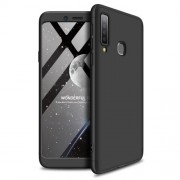 GKK 360 μοιρών Σκληρή Θήκη Ματ με Βελούδινη Υφή Πρόσοψης και Πλάτης για Samsung Galaxy A9 (2018) / A9s - Μαύρο