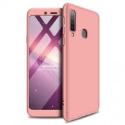 GKK 360 μοιρών Σκληρή Θήκη Ματ με Βελούδινη Υφή Πρόσοψης και Πλάτης για Samsung Galaxy A9 (2018) / A9s - Ροζέ Χρυσαφί