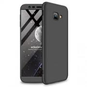 GKK 360 μοιρών Σκληρή Θήκη Ματ με Βελούδινη Υφή Πρόσοψης και Πλάτης για Samsung Galaxy J4 Plus / J4 Prime - Μαύρο