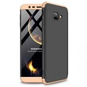GKK 360 μοιρών Σκληρή Θήκη Ματ με Βελούδινη Υφή Πρόσοψης και Πλάτης για Samsung Galaxy J4 Plus / J4 Prime - Μαύρο/Χρυσαφί