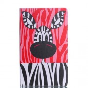 Pattern Printing Wallet Stand Leather Accessory Shell for Samsung Galaxy Tab A 10.5 (2018) T590 T595 - Zebra