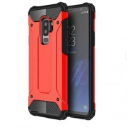 Armor Guard Plastic + TPU Hybrid Cell Phone Case for Samsung Galaxy S9+ G965 - Red