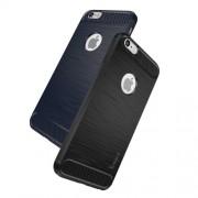 IPAKY Θήκη Σιλικόνης TPU Carbon Fiber Brushed για iPhone 6s 6 - Μαύρο