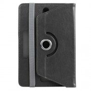 ENKAY Universal Crazy Horse Leather Case for Samsung Tab 4 7.0/Tab 3 7.0 Etc - Black