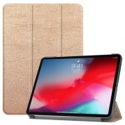Tri-fold Stand PU Leather Smart Cover for iPad Pro 11-inch (2018) - Gold