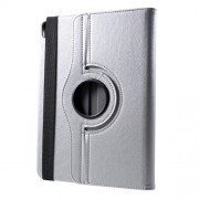 Litchi Texture Leather Tablet Case with 360 Degree Rotary Stand for iPad Pro 12.9-inch (2018) - Silver