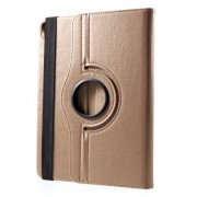 Litchi Texture Leather Protector Cover with Swivel Stand for iPad Pro 12.9-inch (2018) - Gold