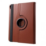 Litchi Grain 360 Degree Rotary Stand Leather Case Accessory for iPad Pro 12.9-inch (2018) - Brown