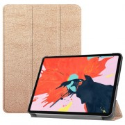 Tri-fold Stand PU Leather Smart Tablet Cover for iPad Pro 12.9-inch (2018) - Rose Gold