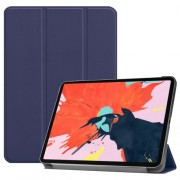 PU Leather Smart Case Cover with Tri-fold Stand for iPad Pro 12.9-inch (2018) - Dark Blue