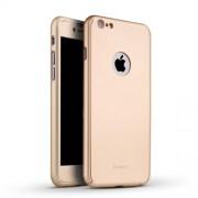 IPAKY 360 μοιρών Σκληρή Θήκη Ματ με Βελούδινη Υφή Πρόσοψης και Πλάτης για iPhone 6 Plus / 6s Plus - Χρυσαφί