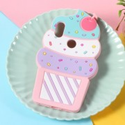 3D Cherry Ice Cream Silicone Phone Case for Xiaomi Redmi Note 6 Pro - Pink