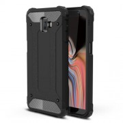 Armor Guard Plastic + TPU Hybrid Phone Case for Samsung Galaxy J6+ / J6 prime - Black