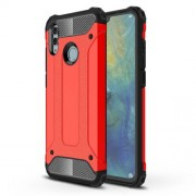 Armor Guard Plastic + TPU Hybrid Phone Case for Huawei Honor 10 Lite - Red