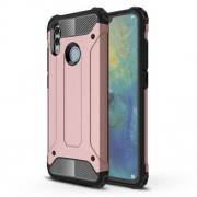 Armor Guard Plastic + TPU Hybrid Cover Shell Case for Huawei Honor 10 Lite - Rose Gold